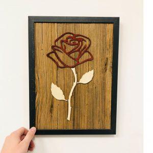 Altholzbild Rose